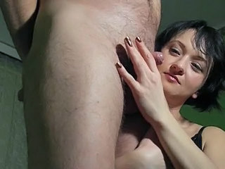 Amateur CFNM Girlfriend Handjob Small cock