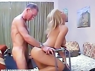 Ass Babe Blonde Doggystyle Hardcore Old and Young Pornstar