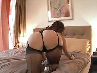 Ass Lingerie MILF Pornstar Stockings