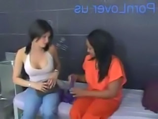 Ebony Interracial Lesbian Prison Uniform