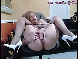 Masturbation Mature Culotte Collants Solo