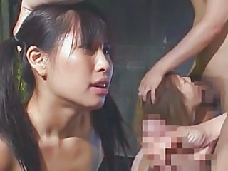 Asian Blowjob Groupsex Japanese Pigtail
