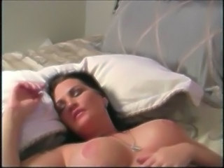 Big Tits Bus MILF Natural Sleeping Wife