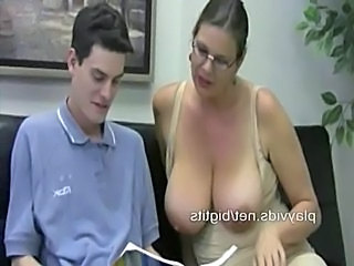 Big Tits Glasses Handjob MILF Natural Teacher