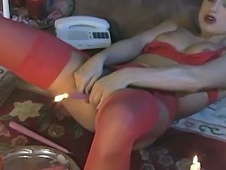 European German Insertion Lingerie Pornstar