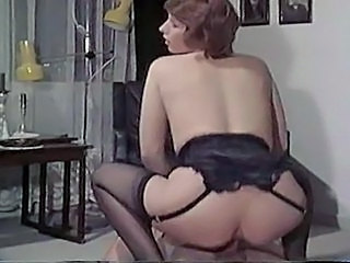 Ass MILF Riding Strømper Vintage