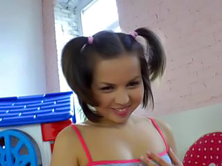 Babe Cute Pigtail Teen