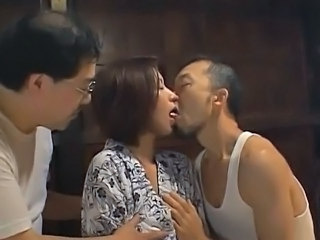 Asian Japanese Kissing MILF Threesome