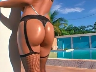 Ass Brazilian Latina Oiled Outdoor Pornstar Stockings