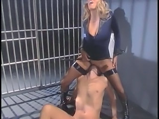 Amazing Bus CFNM Facesitting Licking MILF Prison Stockings