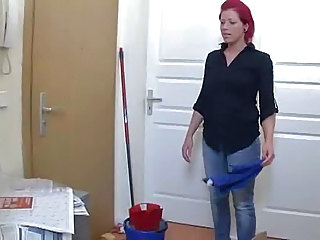 Amateur Cute German Maid Redhead
