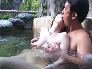 Asian Big Tits Japanese Kissing MILF Outdoor Pool