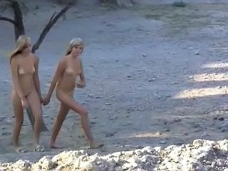 Cute Lesbian Nudist Outdoor Small Tits Teen Twins