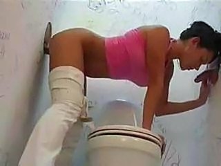 Blowjob Cute Gloryhole Handjob Hardcore Toilet