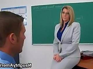 Big Tits Glasses MILF School Teacher