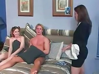 Cute Sister Teen Threesome
