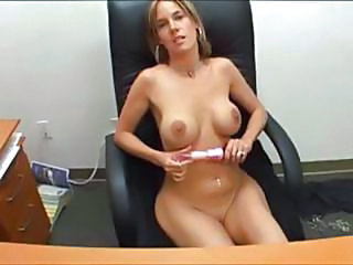 Big Tits Bus Masturbating MILF Office Secretary Toy