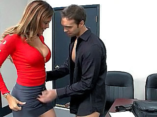 Amazing Big Tits MILF Office Secretary