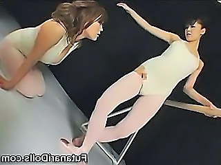 Asian Flexible Japanese Lesbian Pantyhose Teen