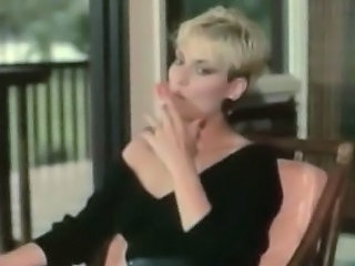 Blonde MILF Smoking Vintage