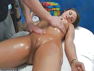 Cute Massage Oiled Pussy Shaved