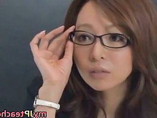Asian Glasses Japanese MILF Pornstar Teacher