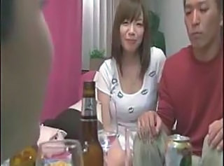 Asian Big Tits Drunk Japanese Kitchen MILF Threesome