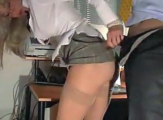 Doggystyle Glasses Hardcore MILF Office Secretary Stockings