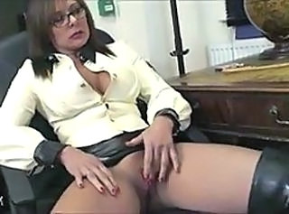 Glasses Masturbating MILF