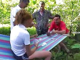 Amateur Blonde Gangbang Game Outdoor Teen