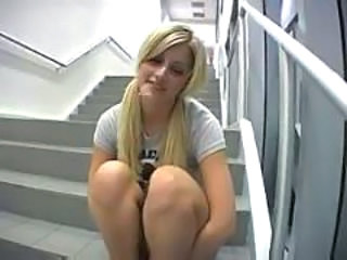 Amazing Blonde Pigtail Student Teen