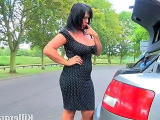 British Car European MILF Outdoor