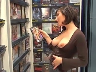 Babe European French Masturbating Public Solo