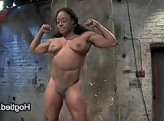 Ebony MILF Muscled