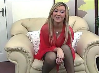 Babe Blonde British European Stockings