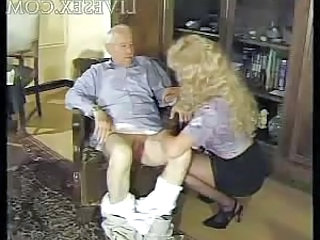 Blonde Handjob Older Old and Young