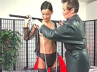 Bdsm Brunette Latex Mom Skinny