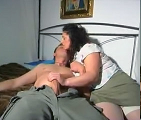 Brunette Handjob MILF Stockings