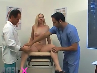 Blonde Doctor Teen Threesome