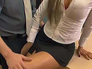 Blonde Cute MILF Office