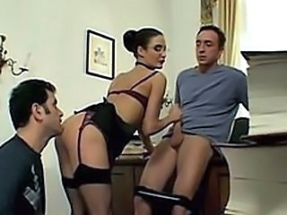 Double Penetration Lingerie Teacher Threesome