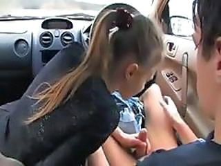 Blowjob Car Girlfriend Teen