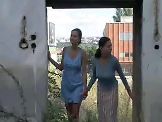 Lesbian MILF Old and Young Outdoor