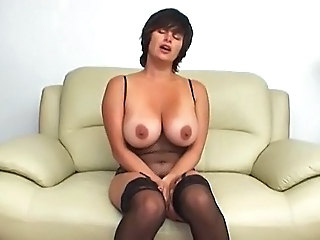 Big Tits Lingerie MILF Natural Stockings