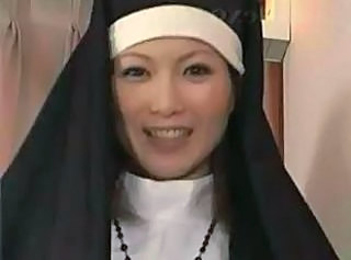 Asian Japanese MILF Nun Uniform