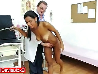 Doctor Interracial Latina Old and Young Teen