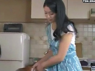 Asian Japanese Kitchen MILF Wife