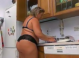 BBW Family Kitchen Lingerie Mature
