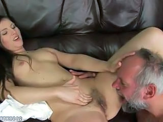 Daddy Daughter Hairy Old and Young Teen