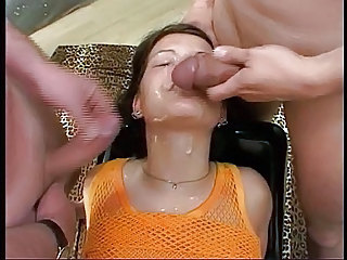 Bukkake Cumshot Facial Teen Threesome